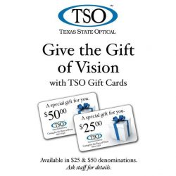 Give the Gift of Vision counter card