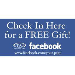 SOCIAL MEDIA COUNTER CARD - FACEBOOK CHECK-IN
