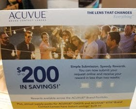 Acuvue Rebate at TSO Sharpstown